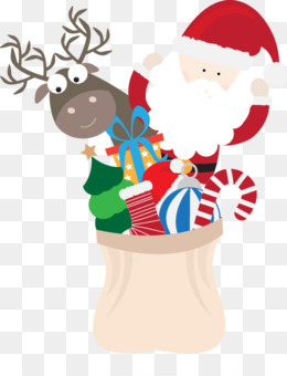 Santa Claus, Reindeer, Christmas, Holiday, Art PNG image with transparent background