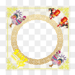 free download chicken chinese zodiac chinese new year china wind festive circular border png