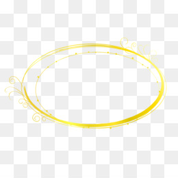 free download yellow circle material bangle gold title frame png