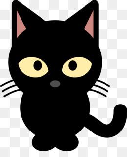 Black Cat PNG Transparent Clipart Free Download