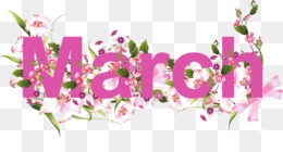 March, Free Content, Calendar, Pink, Plant PNG image with transparent background