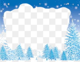 Picture Frames, Winter, Desktop Wallpaper, Blue, Fir PNG image with transparent background