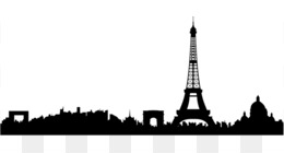 Eiffel Tower Skyline Wall Decal Silhouette Clip Art