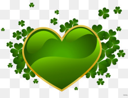 Ireland, Saint Patrick S Day, Shamrock, Heart, Grass PNG image with transparent background