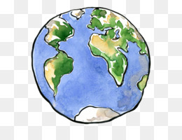 Earth, Drawing, Planet PNG image with transparent background