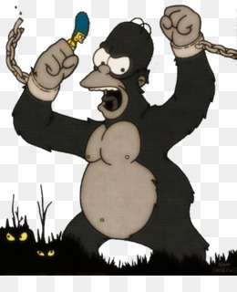Free Download Homer Simpson Marge Simpson King Kong Treehouse Of