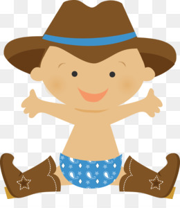 free download cowboy infant western clip art baby shower png