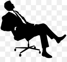 Free Download Chair Silhouette Sitting Clip Art Boss Png