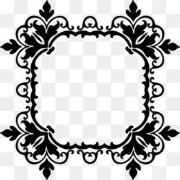 borders and frames picture frames clip art black damask background rh kisspng com damask clip art border free gold damask clipart