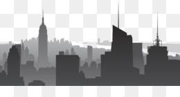 Manhattan skyline new york sketch icon manhattan skyscrapers png