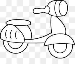 Scaricare Gratuito Scooter Disegno Da Colorare Moto Clip Art Vespa
