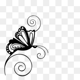Butterfly, Silhouette, Stencil, Monochrome Photography, Body Jewelry PNG image with transparent background