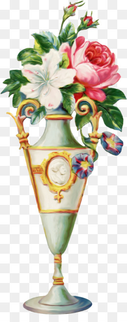 Vase Of Flowers Png Vase Of Flowers Transparent Clipart Free