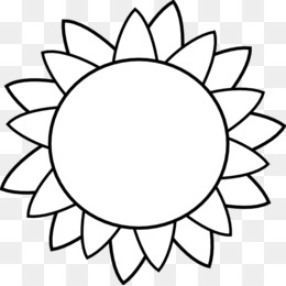 Free Download Common Sunflower Template Drawing Clip Art