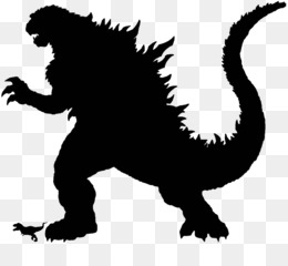 Godzilla, Silhouette, Drawing, Wildlife, Small To Medium Sized Cats PNG image with transparent background