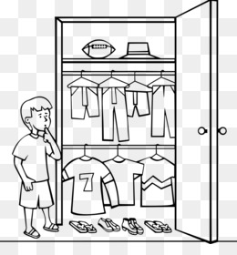 Wardrobe clipart black and white  Closet Armoires & Wardrobes Clip art - closet png download - 777*800 ...