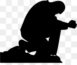 Prayer, Silhouette, Man, Human Behavior PNG image with transparent background