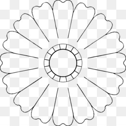 Crochet flower diagram petal pattern eight petal flower template you may also like ccuart Image collections