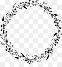 Wreath, Laurel Wreath, Gift, Line Art, Plant PNG image with transparent background