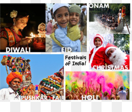 Festival, India, Holi, Collage PNG image with transparent background