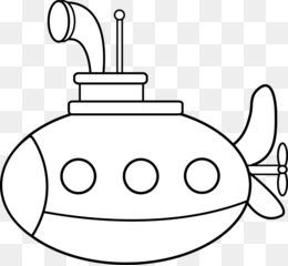 Scaricare Gratuito Libro Da Colorare Sottomarino Disegno Clip Art