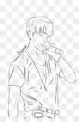 BTS Line Art Coloring Book Drawing EXO