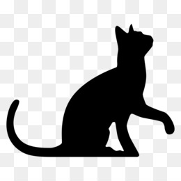 Cat, Black Cat, Silhouette, Snout, Wildlife PNG image with transparent background