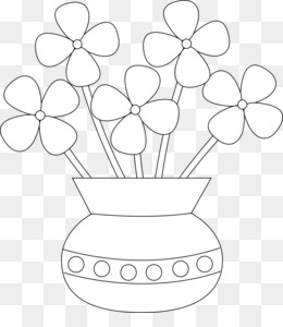 Free Download Coloring Book Flowerpot Drawing Child Vase Png