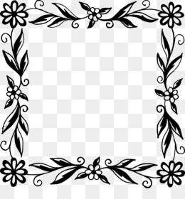 Free download flower black and white picture frames flower frame png mightylinksfo
