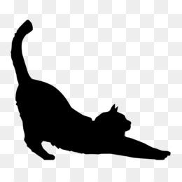 Black Cat Silhouette Kitten Clip Art Vector
