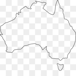 australia blank map world map outline australian vector