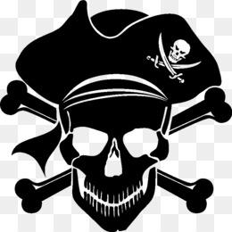 free download piracy skull and crossbones jolly roger clip art rh kisspng com jolly roger flag clipart Jolly Roger Logo