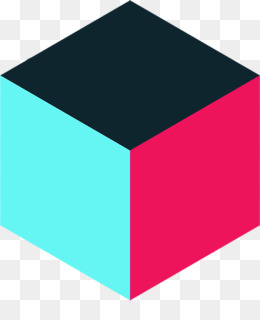 Free download Teal Turquoise Magenta Rectangle - 3d cube png