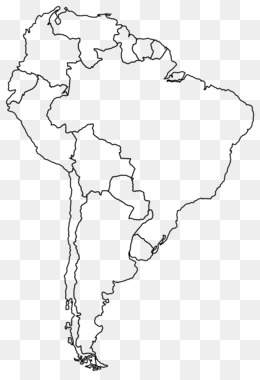 Free download Page South America Coloring book Blank map - map png.