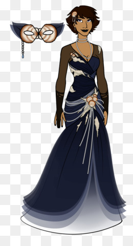Masquerade ball Dress Mask Ball gown - gold masquerade png download ...