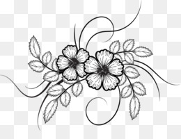 Flower sketch png flower sketch transparent clipart free download png mightylinksfo