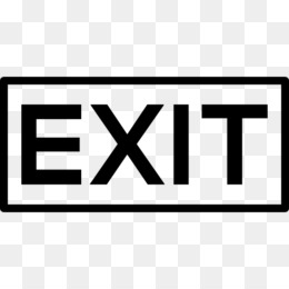 Exit Sign, Emergency Exit, Road, Area, Text PNG image with transparent background