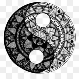 El Yin Y El Yang Png Transparente Y El Yin Y El Yang Dibujo Gato