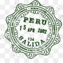Passport Stamp Peru World Postage Stamps