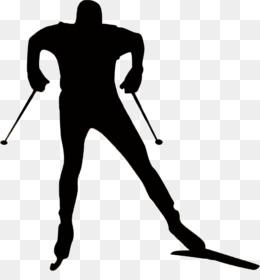 Ski Poles Skiing Silhouette Sport Skier