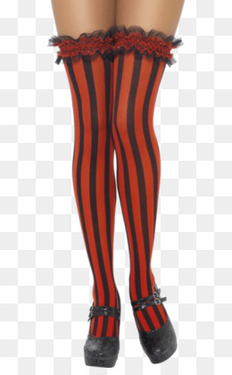 0aa6269ab Stocking Hold-ups Sock Garter Tights - red and white vertical stripe  lighthouse