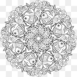 Nature Mandalas Coloring Book Drawing Adult