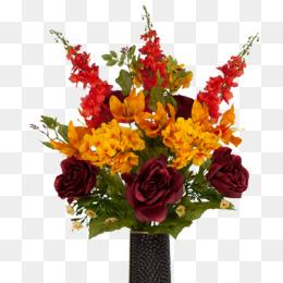 paper flower bouquet rose clip art   burgundy flowers png