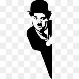 Charlie Chaplin Stencil The Tramp Sticker - Charlie ...