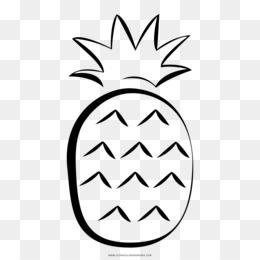 Scaricare Gratuito Disegno Da Colorare In Bianco E Nero Di Ananas
