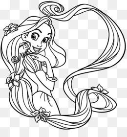 Rapunzel Coloring Book Disney Princess Tangled Fairy Tale Disney