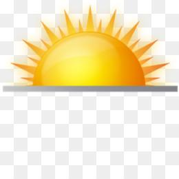 Sunrise Sunset Computer Icons Orange Yellow Png Image With Transpa Background
