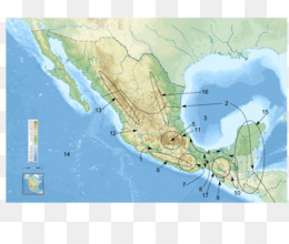Free download Sierra Madre Oriental Map Mesoamerica Atlas Physische ...