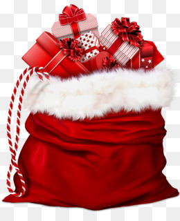 Santa Claus, Gift, Christmas, Christmas Decoration PNG image with transparent background