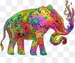 Indian Elephant, African Elephant, Art, Elephants And Mammoths, Elephant PNG image with transparent background